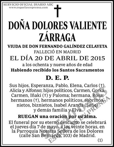 Dolores Valiente Zárraga